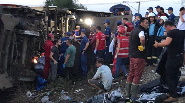 Tekirdağ'da yolcu treni raydan çıktı