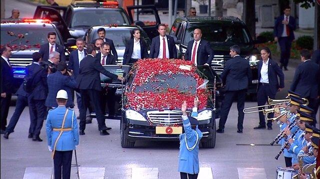Cumhurbaşkanı Erdoğan TBMMye böyle geldi