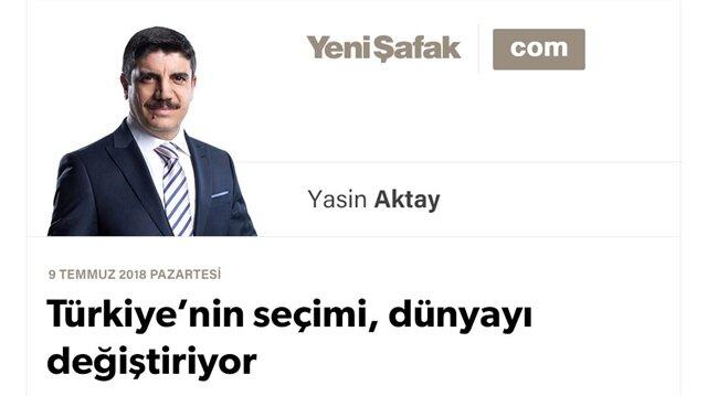 Türkiye'nin seçimi, dünyayı değiştiriyor