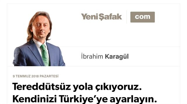 Tereddütsüz yola çıkıyoruz. Kendinizi Türkiye'ye ayarlayın. Bugün açıklanacak kabinenin tamamı iyidir, öyle bileceğiz..