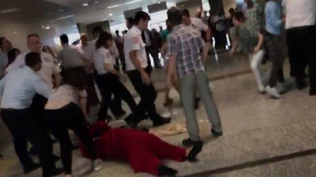 İstanbul Adliyesinde tekme tokat kavga