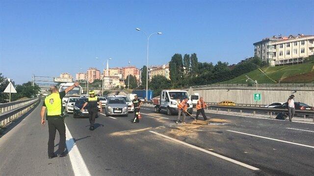TEM'de kaza: 3 şerit trafiğe kapatıldı