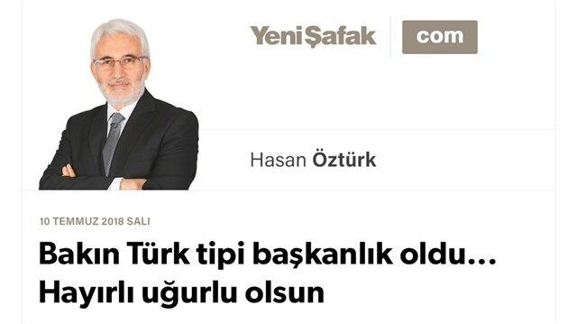 Bakın Türk tipi başkanlık oldu... Hayırlı uğurlu olsun