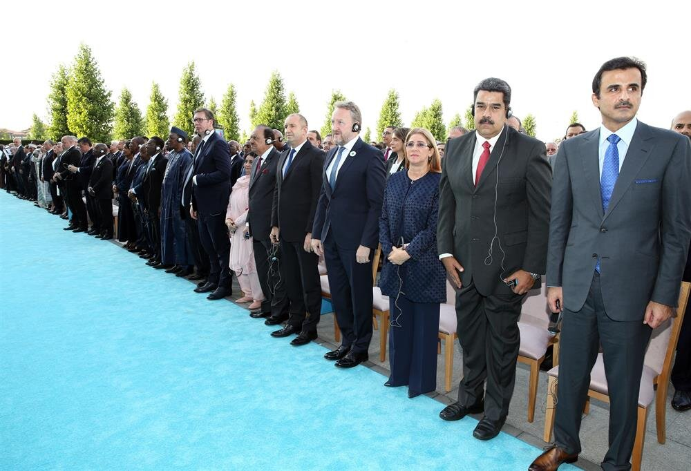 Heads of state from several countries attended the ceremony