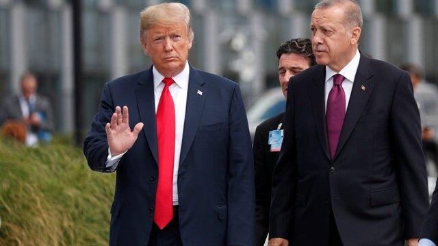 Cumhurbaşkanı Erdoğan NATO zirvesinde ABD Başkanı Trump ile sohbet etti.