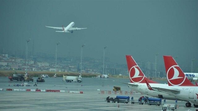 İstanbul havalimanlarını 338 bin 74 uçağın kullandığı göz önüne alındığında ise 46 saniyede bir uçağın iniş kalkış yaptığı tespit edildi.
