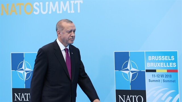 Turkish President Erdoğan in 2018 NATO Summit