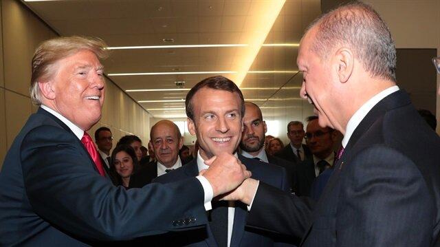 Erdoğan ile Trump'tan zirveye damga vuran kare
