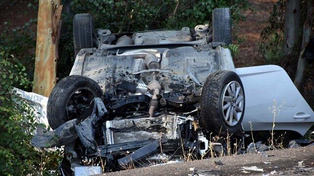 Muğla'da otomobil radar aracına çarptı