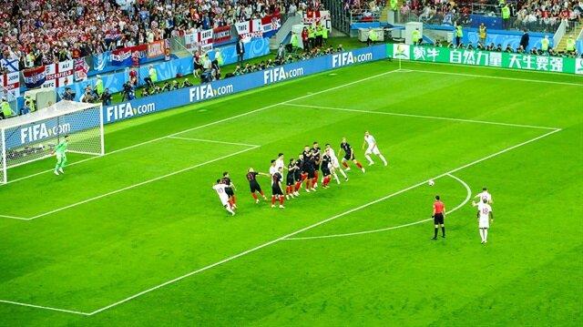 Kevin Trippier'in Hırvatistan'a attığı frikik golü.