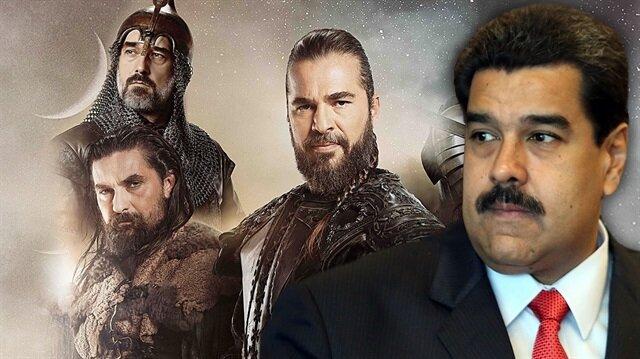 Venezuela Devlet Başkanı Diriliş Ertuğrul dizisinin setini ziyaret etti