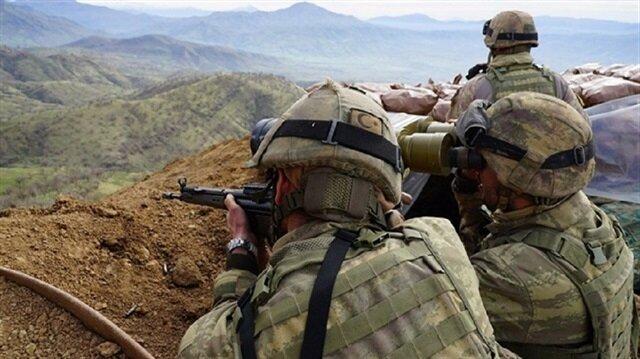 """الجيش التركي يحّيد 3 إرهابيين من""""بي كا كا"""" جنوبي شرقي البلاد"""