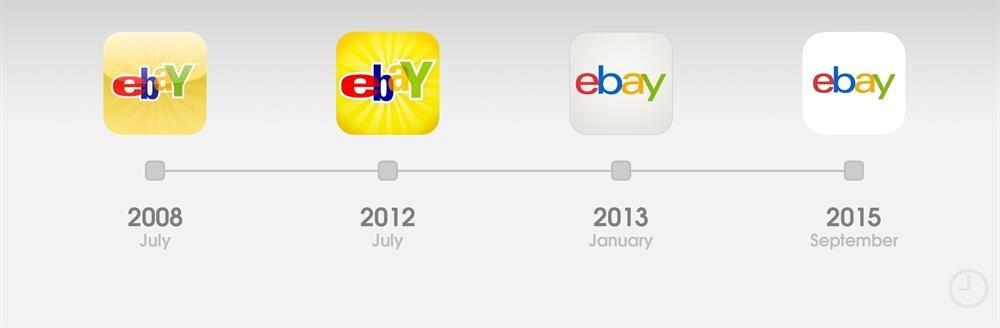 eBay'de de logo değişimi oldu tabii. Fotoğraf: 9to5mac!
