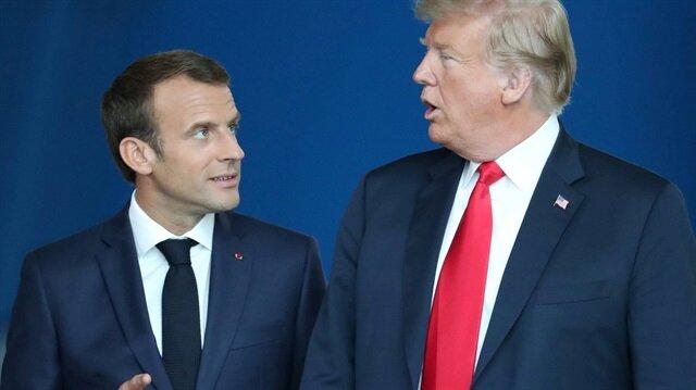 Fransa Cumhurbaşkanı Emmanuel Macron ve ABD Başkanı Donald Trump