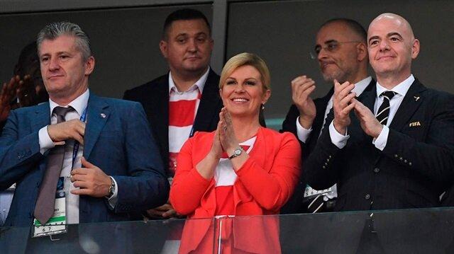 أردوغان يهنئ رئيسة وزراء كرواتيا بتأهل منتخب بلادها للمباراة النهائية