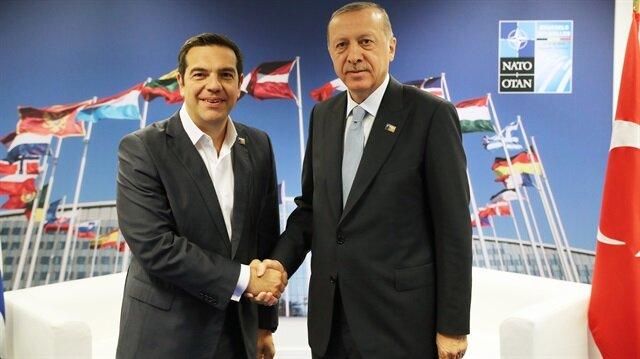 Başkan Erdoğan ile Yunanistan Başbakanı Çipras