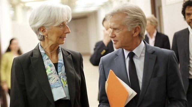 Uluslararası Para Fonu (IMF) Sözcüsü Gerry Rice (sağda)