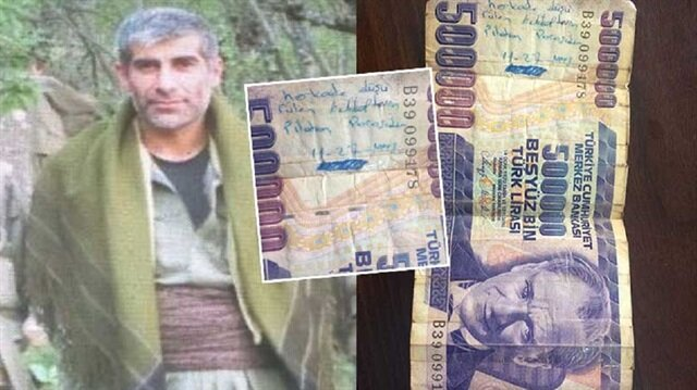 Kırmızı listedeki teröristin üzerinden şehidin parası çıktı