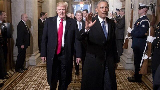 ABD Başkanı Donald Trump ve Barack Obama