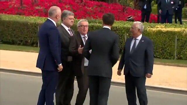 NATO zirvesinde sarhoş olan Juncker'in rezil olduğu anlar