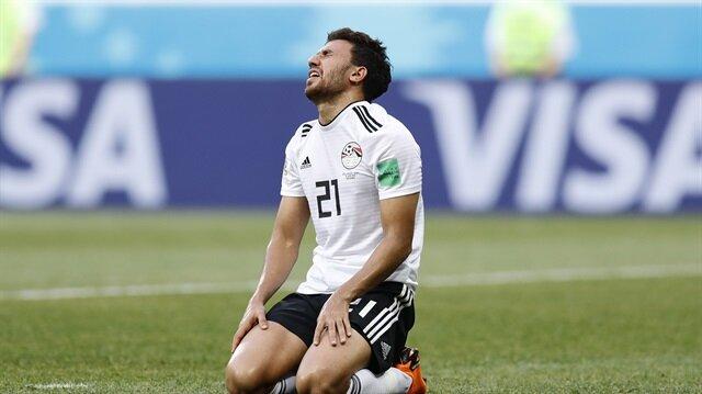 Trezeguet Mısır formasıyla Dünya Kupası'nda boy gösterdi.