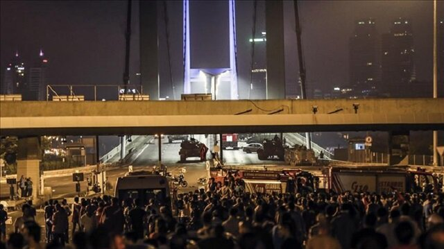 The July 15 Martyrs' Bridge was closed during the night of the coup bid by soldiers around 10.00 p.m. local time (1900GMT).