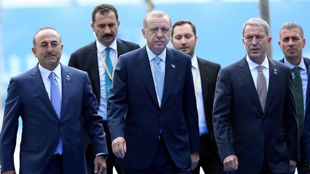 NATO Zirvesi'nde 2. gün... Başkan Erdoğan NATO Karargahı'na böyle geldi