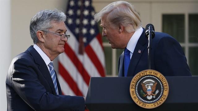 ABD Merkez Bankası (Fed) Başkanı Jerome Powell ile ABD Başkanı Trump