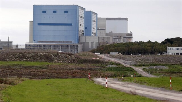 A road cuts through the site where EDF Energy's Hinkley Point C nuclear power station will be constructed in Bridgwater, southwest England.
