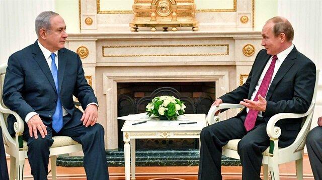 İsrail Başbakanı Netanyahu ve Rusya Devlet Başkanı Vladimir Putin