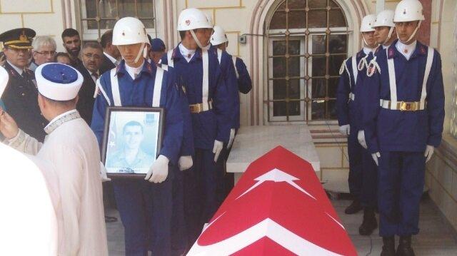 Jandarma Er Yasir Eryiğit İstanbul'da son yolculuğuna uğurlandı.