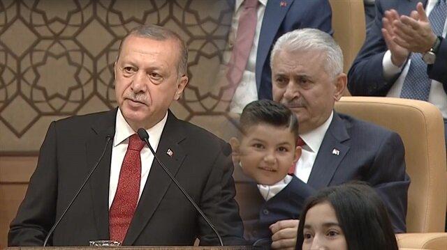 Başkan Erdoğan'ın konuşması Yıldırım'ı duygulandırdı