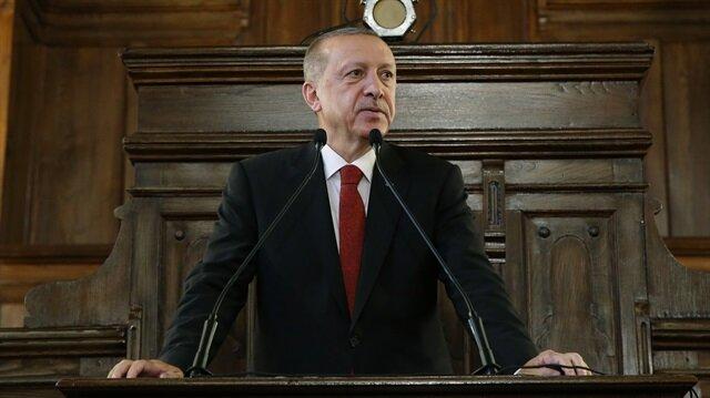 Cumhurbaşkanı Erdoğan 1. Meclis'te düzenlenen törende konuştu.