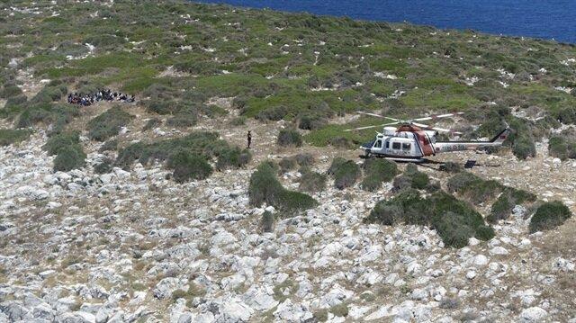 Adada mahsur kalan göçmenler kurtarıldı