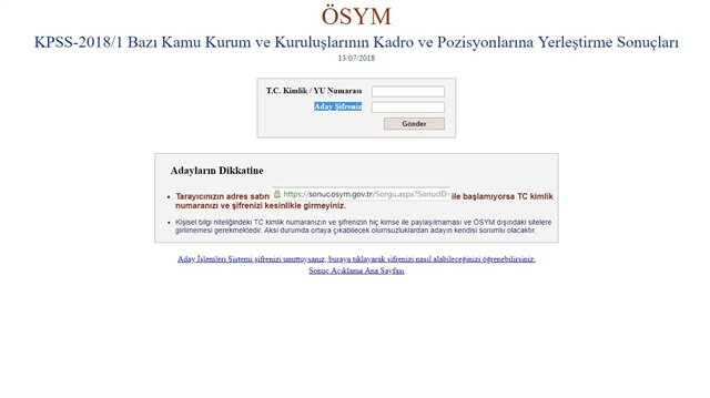 KPSS sonuçları açıklandı, sorgulama ekranına haberimiz üzerinden ulaşabilirsiniz.