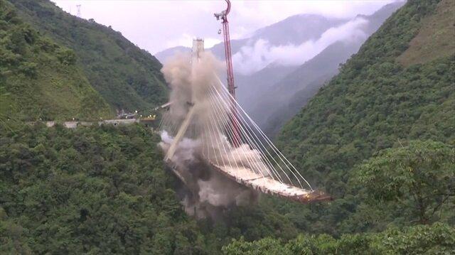 Dev köprü saniyeler içinde yıkıldı!
