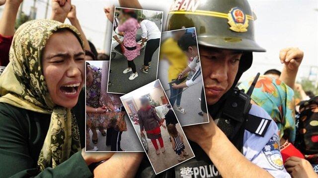 Çin'den görülmemiş zulüm: Müslüman kadınların elbiselerini kestiler!