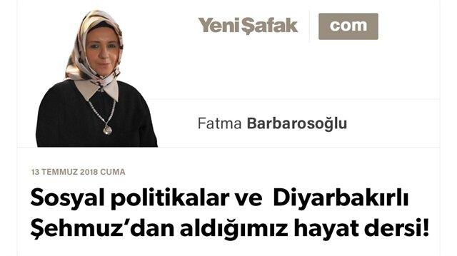 Sosyal politikalar ve Diyarbakırlı Şehmuz'dan aldığımız hayat dersi!