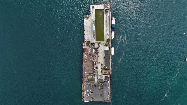 Galatasaray Adası'nın yıkım sonrası son hali havadan görüntülendi.