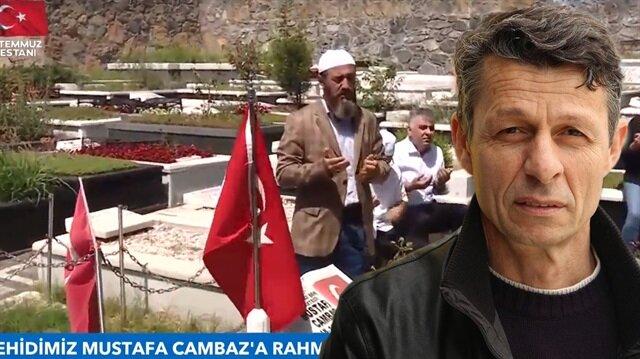 Şehit Mustafa Cambaz mezarı başında anıldı.