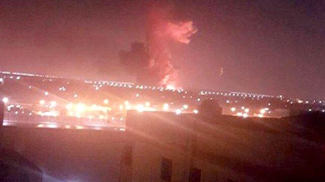 Kahire Havalimanı'ndaki şiddetli patlama böyle görüntülendi