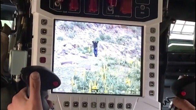 Teröristin paketlenme anı Kobra kamerasında