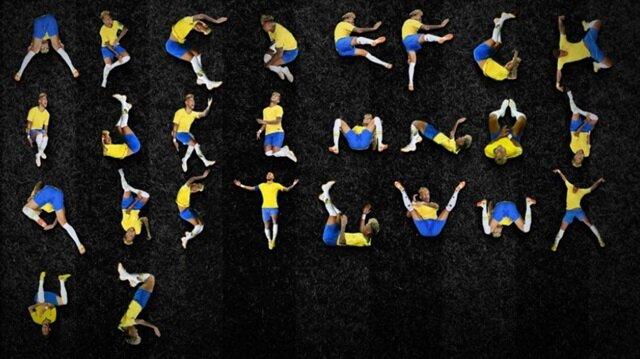 Neymar'ın hareketlerinden alfabe yapıldı.