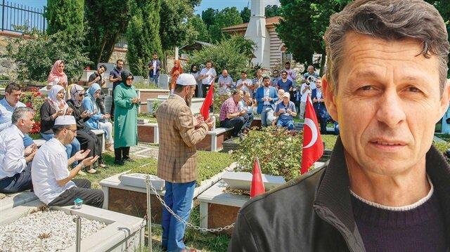 15 Temmuz darbe girişimi sırasında Çengelköy Karakolu yakınlarında, darbeci askerlerin açtığı ateşle şehit olan Mustafa Cambaz, kabri başında dualarla anıldı.