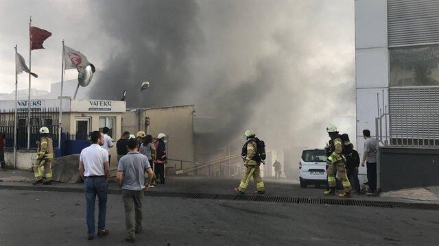 Ankara Gölbaşı'nda fabrikada yangın