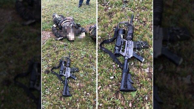 Teröristin üzerinden yeni nesil silah çıktı