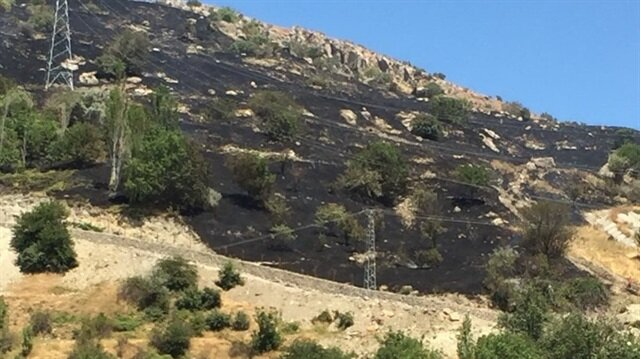 Yangın ekiplerin müdahalesi ile kontrol altına alındı.