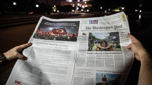 Washington Post'ta tam sayfa 'FETÖ' uyarısı