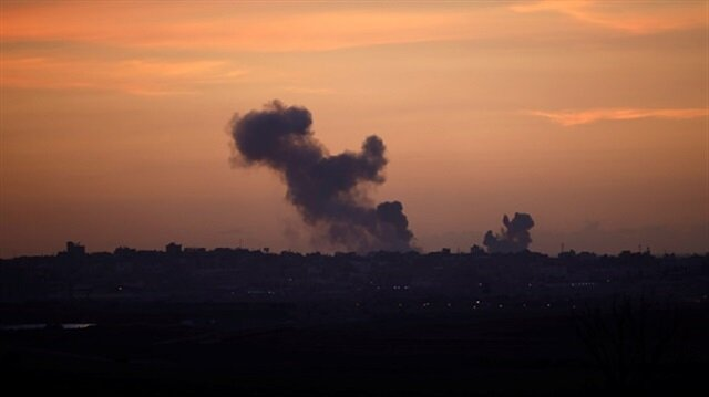 Israeli airstrikes on Gaza Strip injure 2