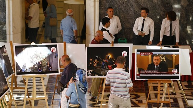 Turkish parliament speaker opens July 15 photo exhibit